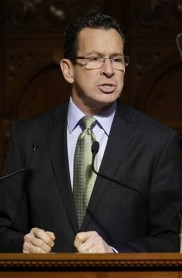 AP photo / Stephan SavoiaConnecticut Gov. Dannel P. Malloy delivering his State of the State speech in Hartford Thursday.