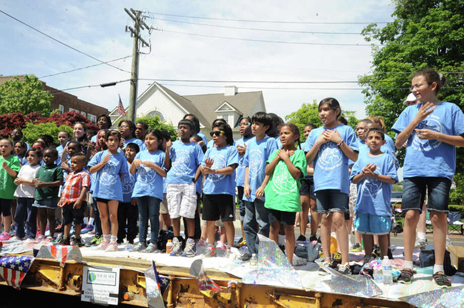 Side by Side School at the Norwalk Memorial Day Parade. Hour photo/Matthew Vinci