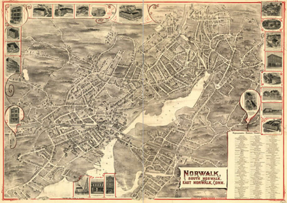 Contributed photoA map of Norwalk from 1899.
