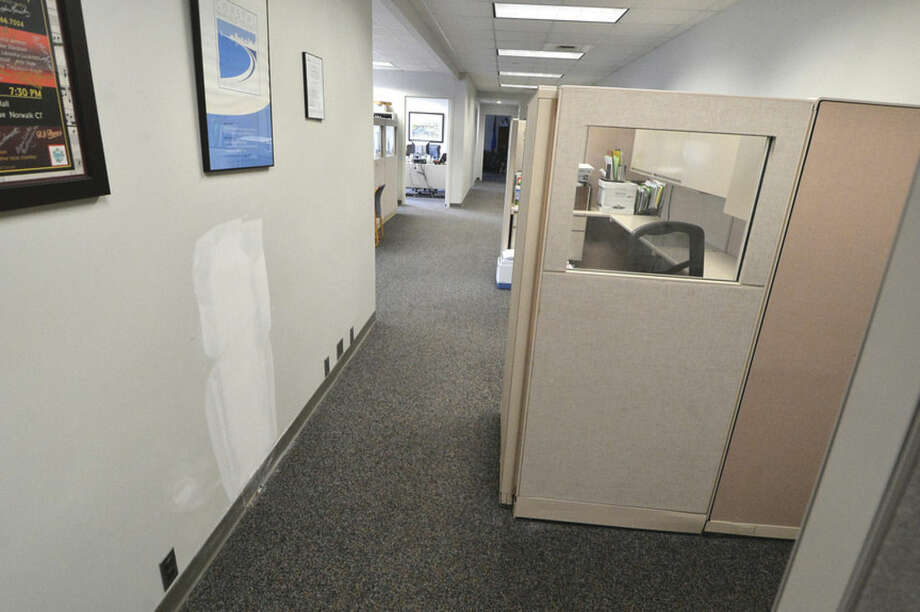 Hour Photo/Alex von Kleydorff Security improvements to the Mayors office have eliminated the inner wating area and remodeled the office space