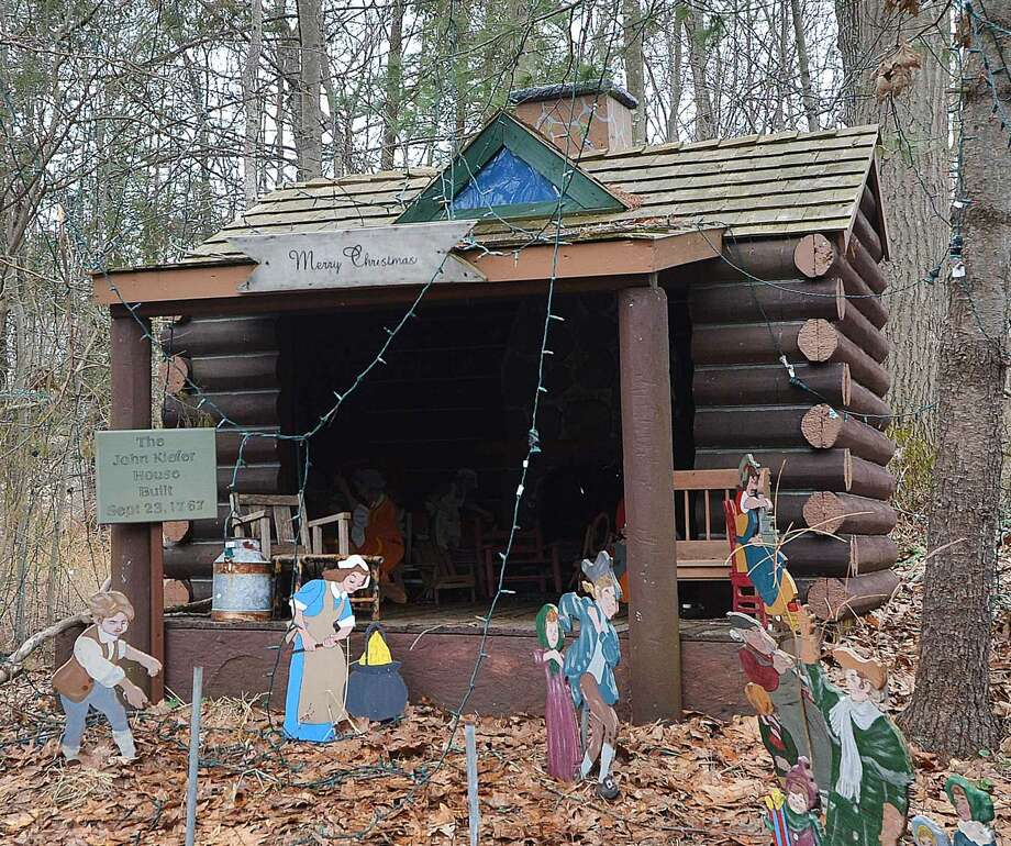 Hour Photo/Alex von Kleydorff The Early American Christmas display that will be donated to The Norwalk Historical Society
