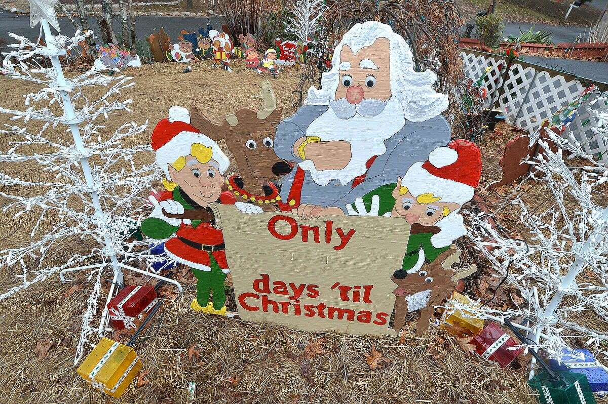 Hour Photo/Alex von Kleydorff Rick and Joan Setti will hold a tag sale to sell the items they have built and displayed over the last 26 Holiday's at their Norwalk home