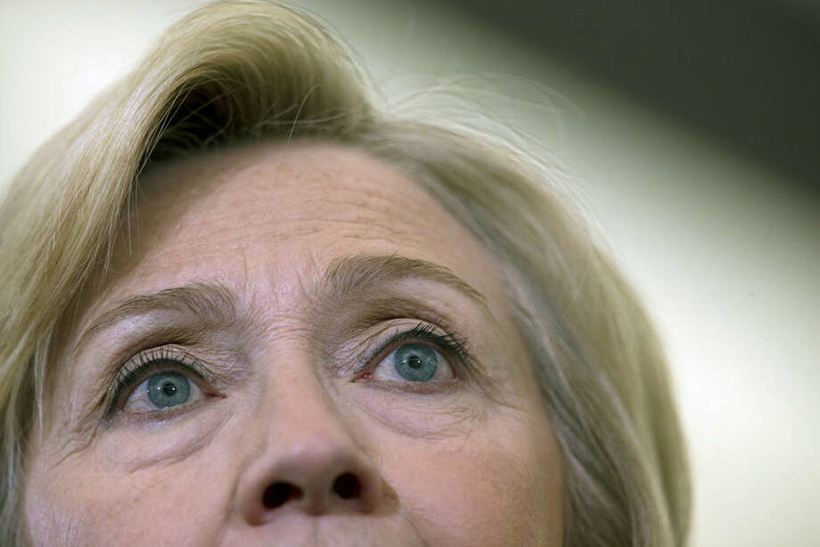 AP Photo/Mary AltafferDemocratic presidential candidate Hillary Clinton speaks at a campaign event, Saturday, April 2, in Eau Claire, Wis.