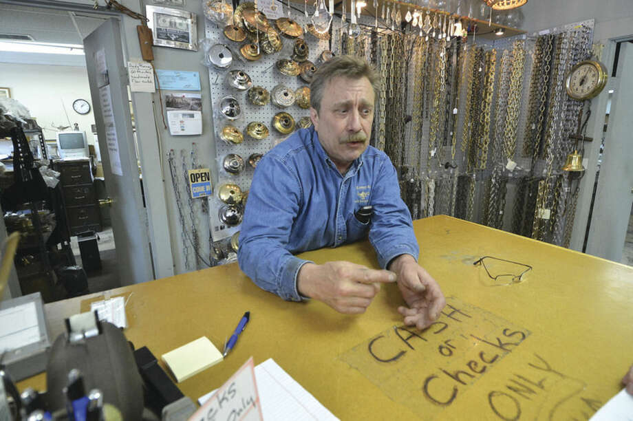 Ed Kassery, owner of E.J. Kassery & Co. at 41 Perry Ave., talks about the anticipated impact to his business during replacement of the Perry Avenue Bridge.