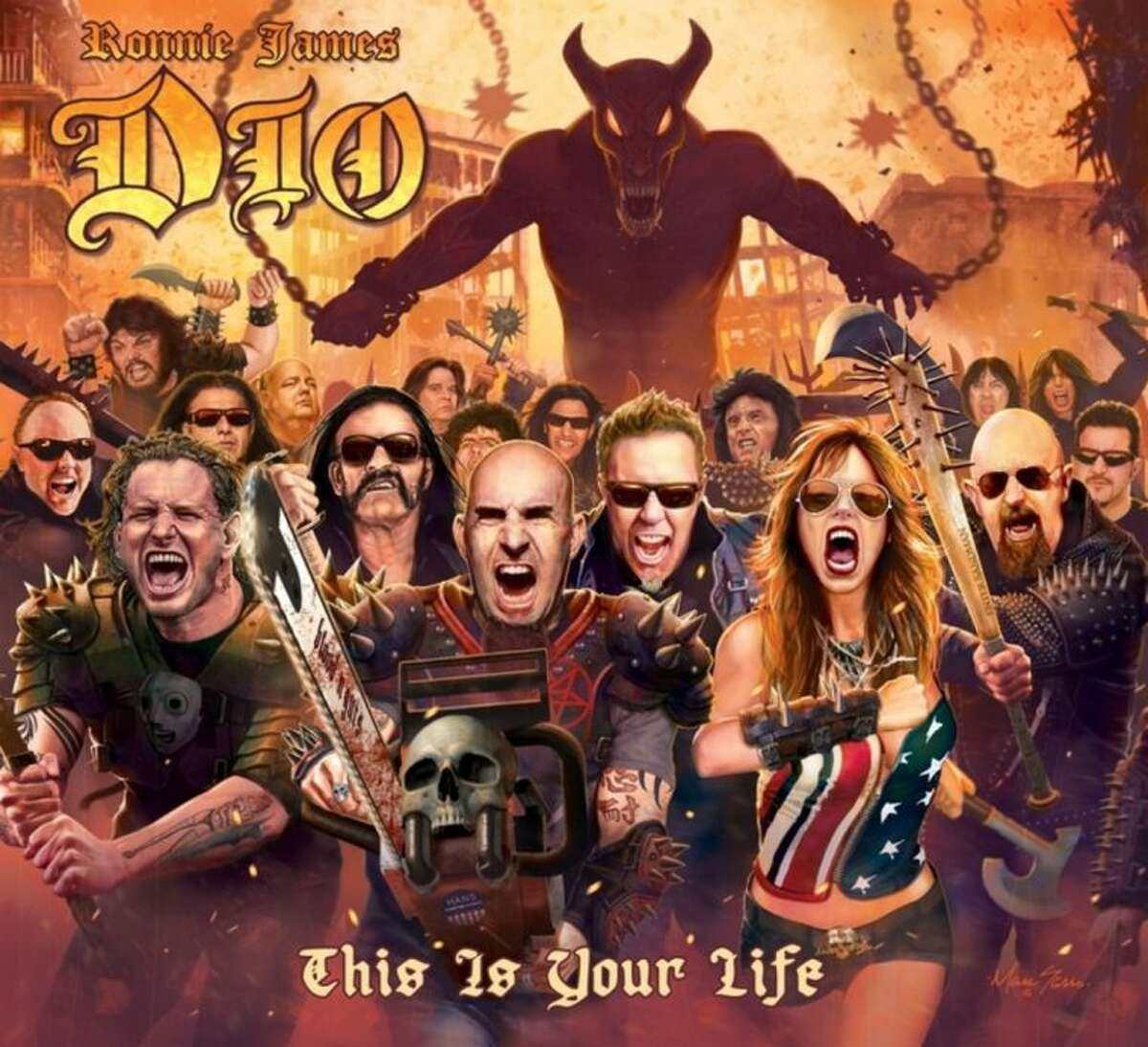 """This CD cover image released by Rhino Entertainment shows """"This Is Your Life,"""" by Ronnie James Dio . (AP Photo/Rhino Entertainment)"""