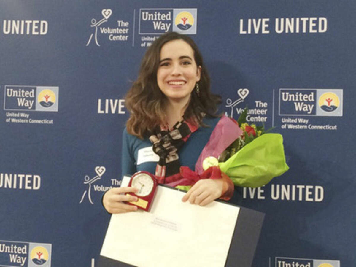 Contributed photo Norwalk's Maeve Flaherty was recently honored by the United Way.
