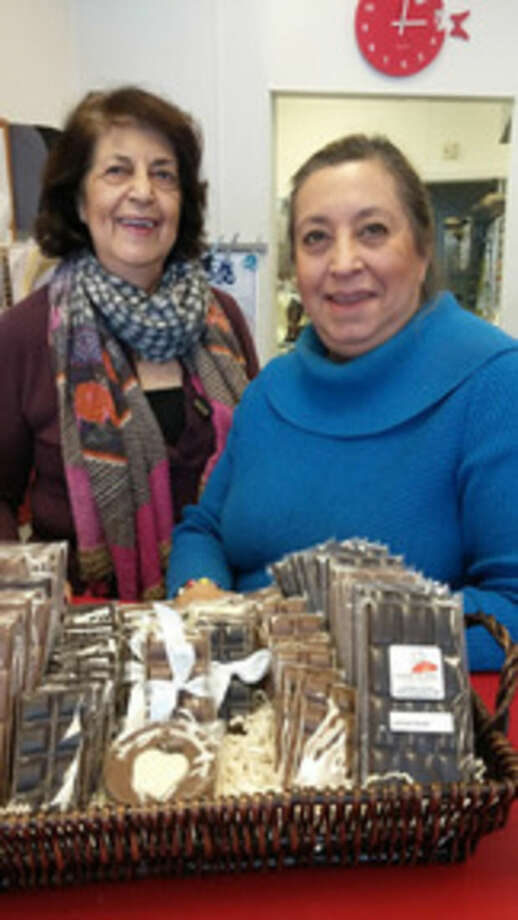 Photo by Frank WhitmanHelen and Diana Gould, owners of Chocolate Rain in Norwalk.