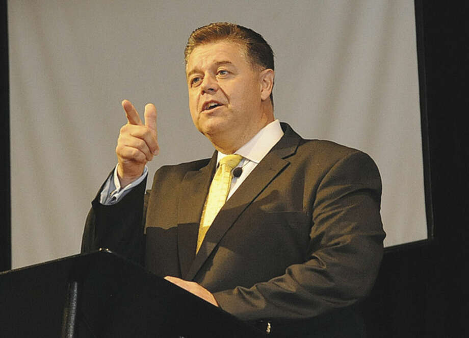 Hour photo/Matthew VinciRev. Artie Kassimis, pastor and member of the Norwalk Board of Education, celebrates 20 years of his Word Alive Bible Church in Norwalk on Sunday.