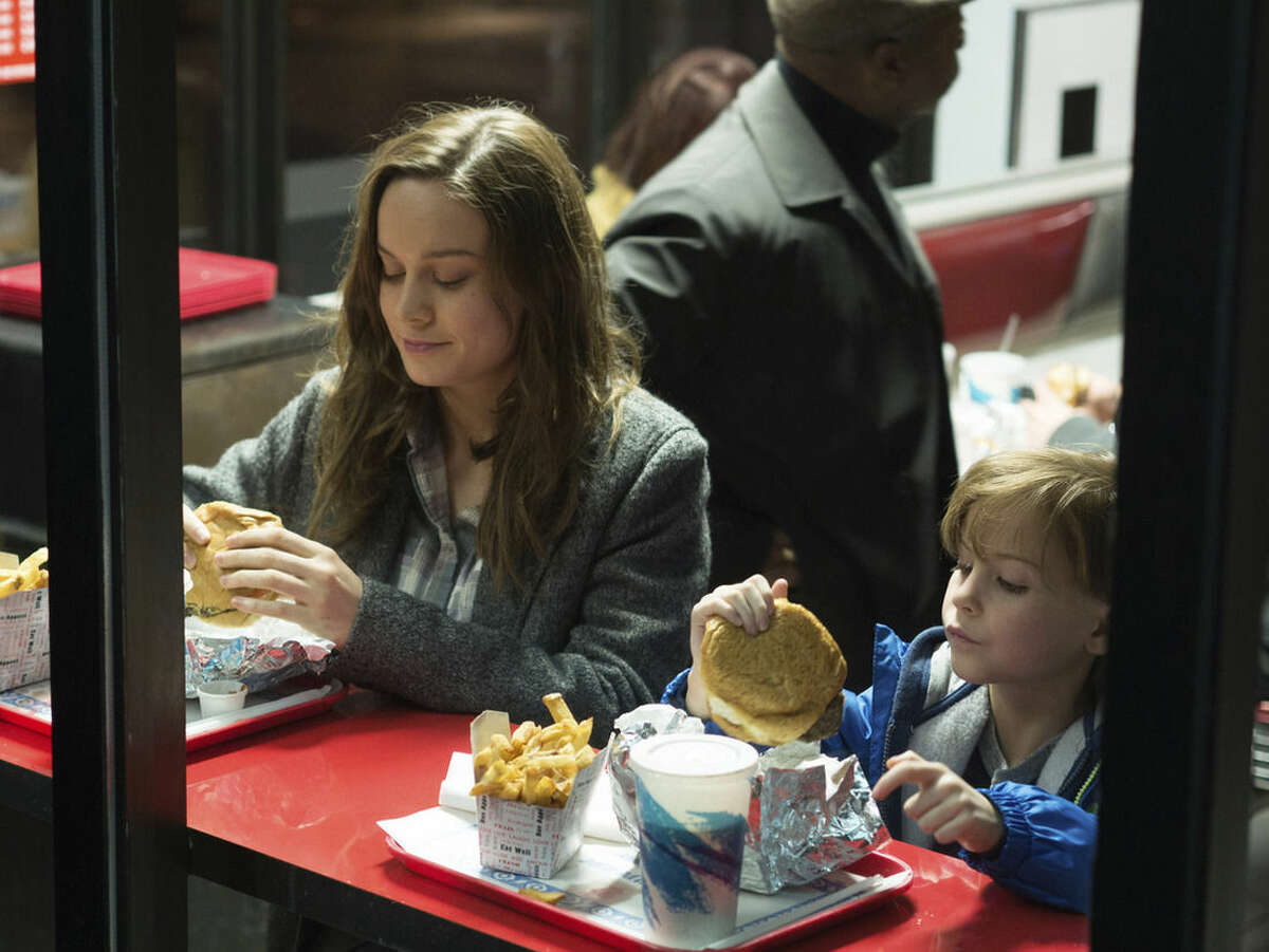 """In this image released by A24 Films, Brie Larson, left, and Jacob Tremblay appear in a scene from the film, """"Room."""" The film was nominated for an Oscar for best picture on Thursday, Jan. 14, 2016. The 88th annual Academy Awards will take place on Sunday, Feb. 28, at the Dolby Theatre in Los Angeles. (A24 Films via AP)"""