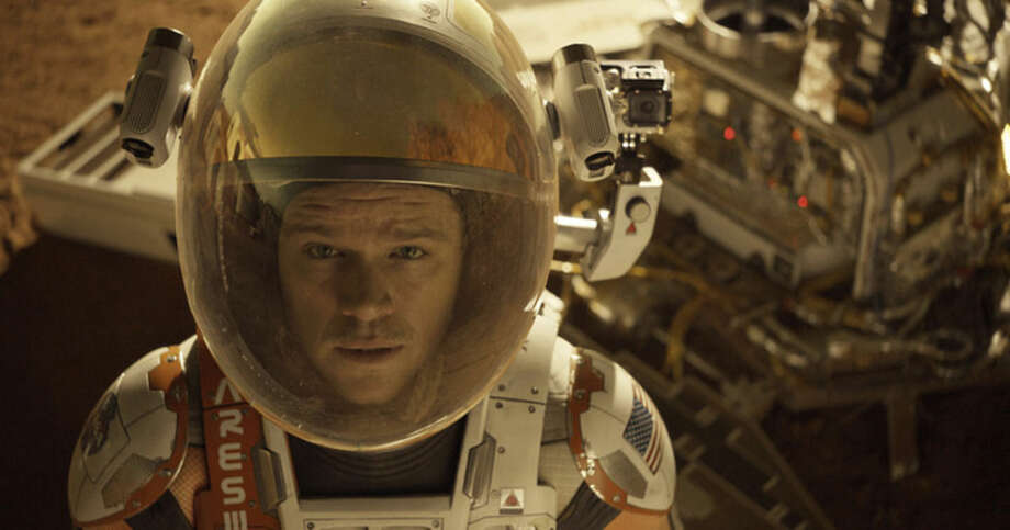 "In this photo provided by Twentieth Century Fox, Matt Damon as Astronaut Mark Watney finds himself stranded and alone on Mars, in ""The Martian."" The 88th annual Academy Awards nominations will be announced in 24 categories beginning at 5:30 a.m. PST on Thursday, Jan. 14, 2016, at the Academy of Motion Picture Arts and Sciences in Beverly Hills, Calif. The Oscars will be presented on Feb. 28, 2016, in Los Angeles. (Twentieth Century Fox via AP)"