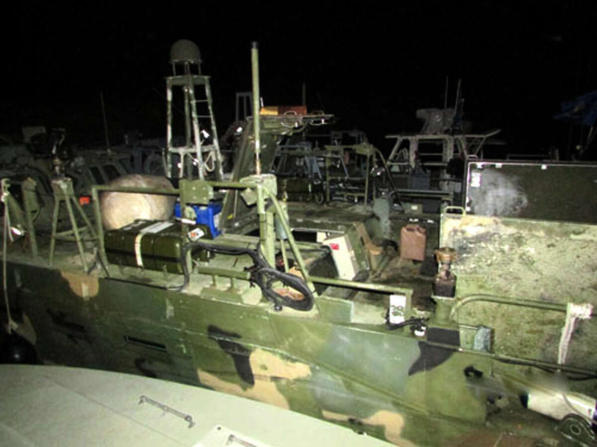 This picture released by the Iranian Revolutionary Guards on Wednesday, Jan. 13, 2016, shows American Navy boats in custody of the guards in an undisclosed location in Iran. Iranian state television is reporting that all 10 U.S. sailors detained by Iran after entering its territorial waters have been released. Iran's Revolutionary Guard said the sailors were released Wednesday after it was determined that their entry was not intentional. (Sepahnews via AP)