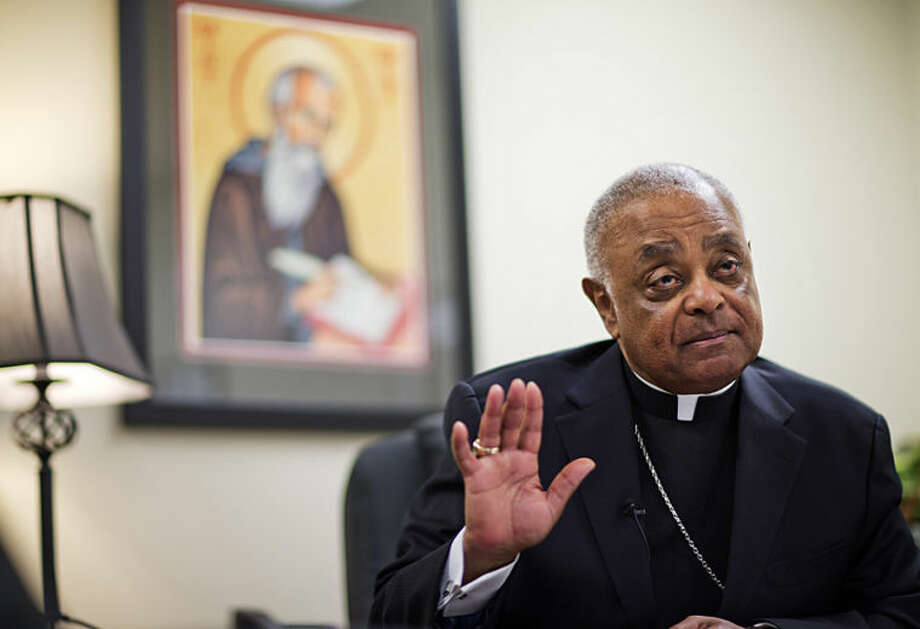 Atlanta Archbishop Wilton Gregory speaks during an interview, Wednesday, April 2, 2014, in Smyrna, Ga. The Roman Catholic Archbishop of Atlanta says he suspects the church will ultimately sell a $2.2 million mansion built for his use. Gregory said in an interview with The Associated Press on Wednesday that he accepts blame for not consulting enough with members of the church before building the expansive residence in one of Atlanta's toniest neighborhoods. (AP Photo/David Goldman)