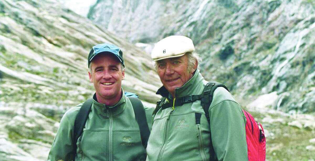 Contributed photo Dan Mahar and Arthur Tauck Jr. in the Canadian Rockies.
