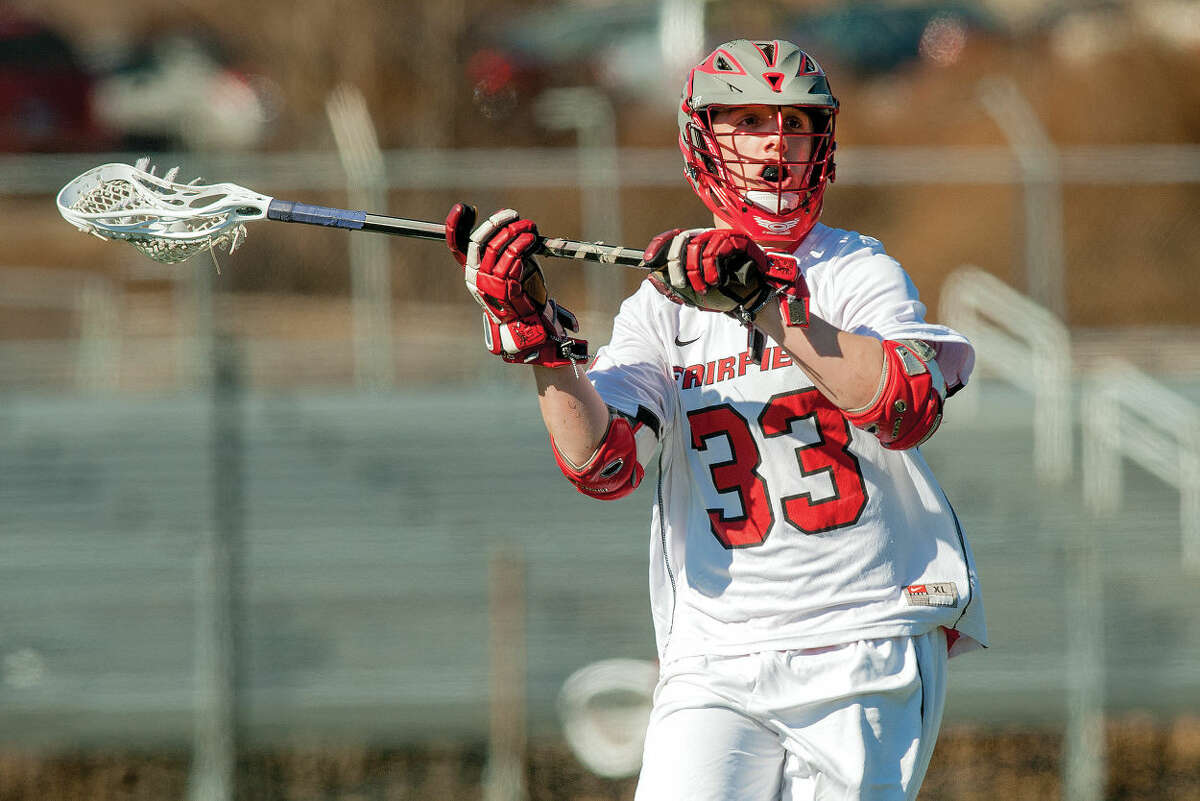 Former Brien McMahon star, Louie DiGiacomo has excelled as a face off specialist at Fairfield University. (Stockton Photo)