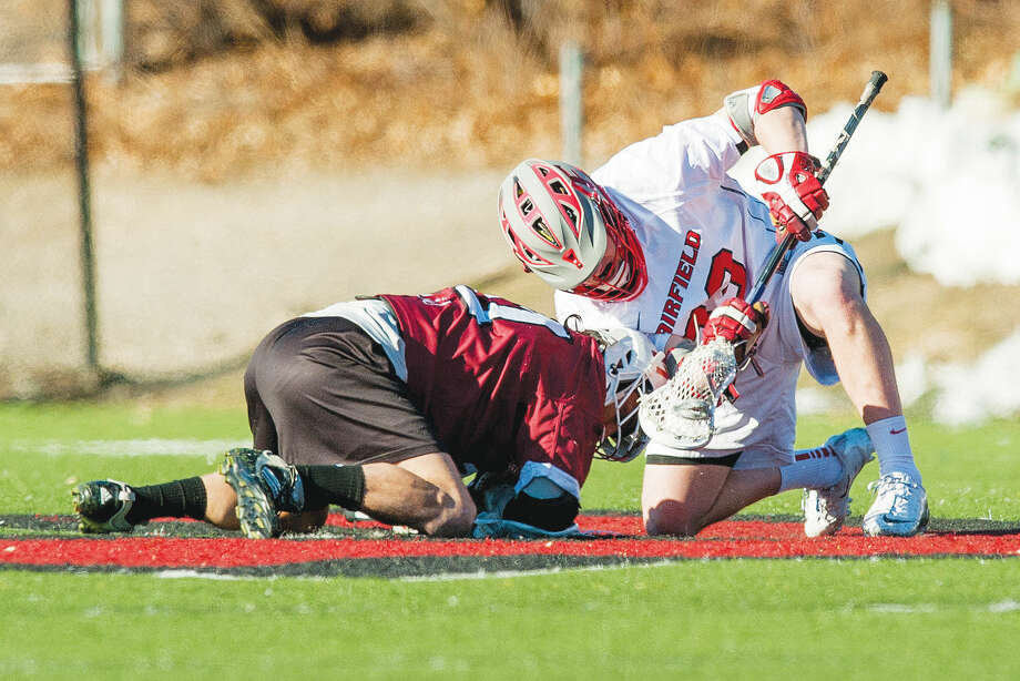 Former Brien McMahon lacrosse player Louie DiGiacomo has helped Fairfield University to a No. 19 ranking in Division I . (Stockton Photo)