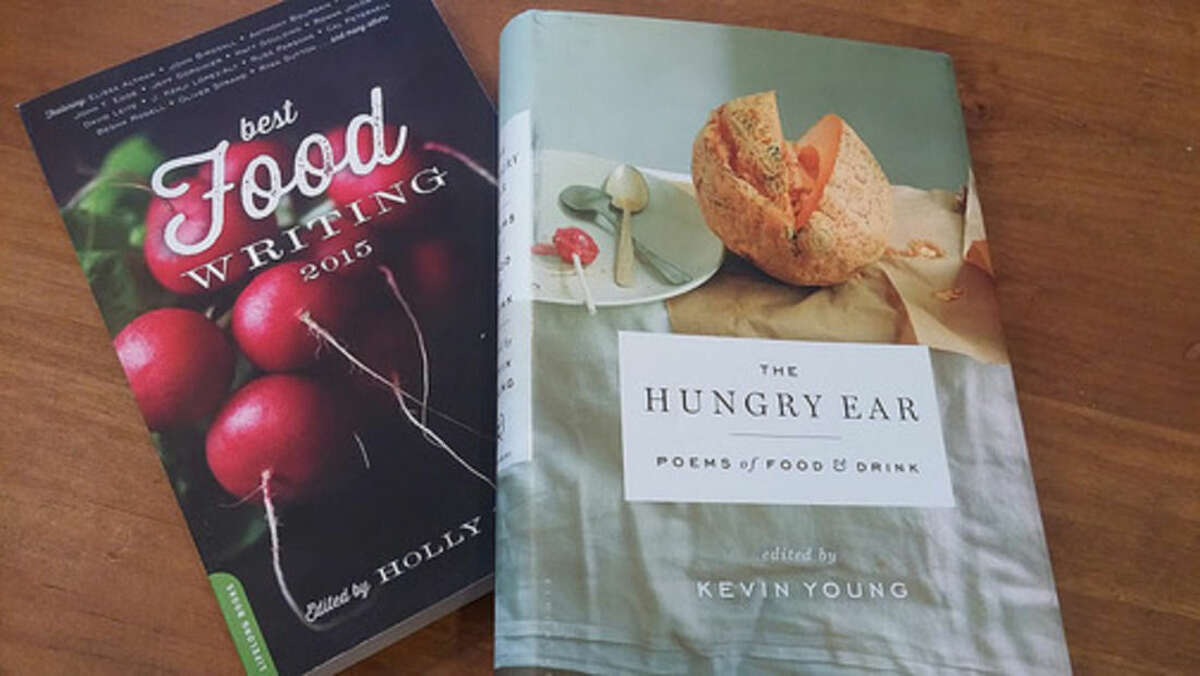 Photo by Frank Whitman Two food anthologies.