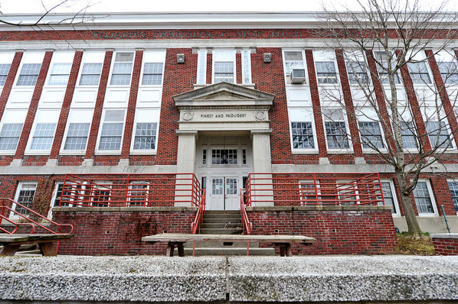 Hour photo / Erik Trautmann The former Ben Franklin School which now houses NEON preschool programs. The Board of Estimate and Taxation on Monday evening will consider special appropriation to cover utility bills for Ben Franklin Center.