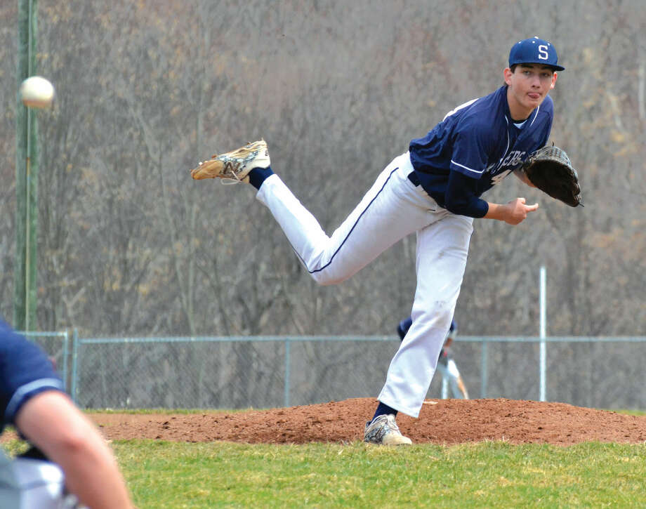 Staples' Michael Fanning pitched four innings to get the win in his first varsity start. Staples defeated Masuk, 10-7 on Tuesday.