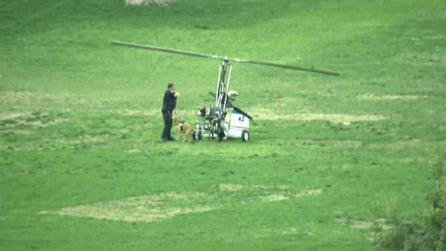 Small aircraft lands on Capitol lawn; pilot in custody