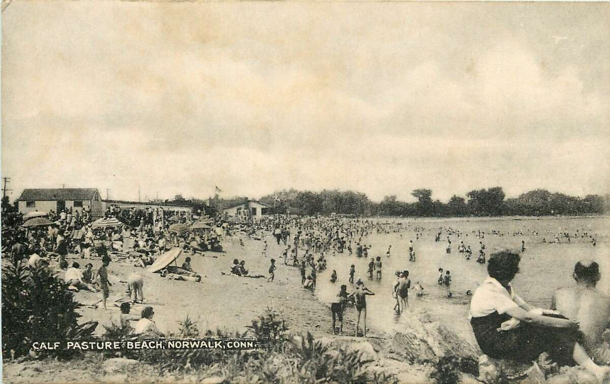 Norwalk's Calf Pasture Beach, 1910 Postcard