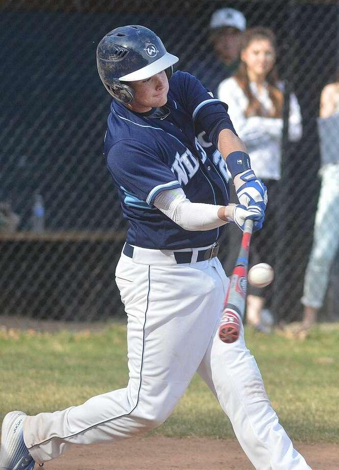 Hour Photo/Alex von Kleydorff Wiltons #25 Alex Jacobson at bat vs Weston