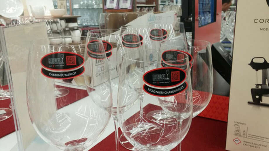 Photo by Frank WhitmanCrystal for wine --larger for red, smaller for white.