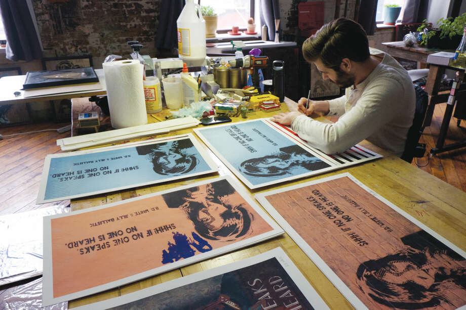 Wilton native B.D. White is making a name for himself as a New York City street artist.