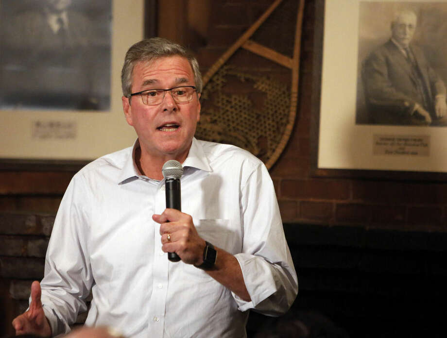 "Former Florida Gov. Jeb Bush speaks to a group at a Politics and Pie at the Snow Shoe Club Thursday, April 16, 2015, in Concord, N.H. Bush said Thursday he will make up his mind ""in relatively short order"" whether to seek the Republican nomination for president in 2016. (AP Photo/Jim Cole)"