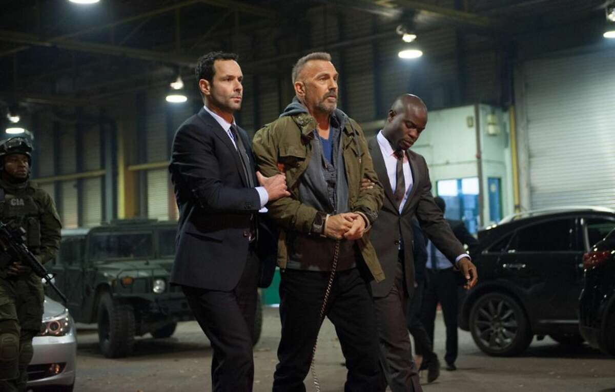 """""""Criminal,"""" starring Kevin Costner, Gal Gadot, and Ryan Reynolds, hits theaters nationwide on Friday. Check out the trailer. (Jack English/Lionsgate)"""