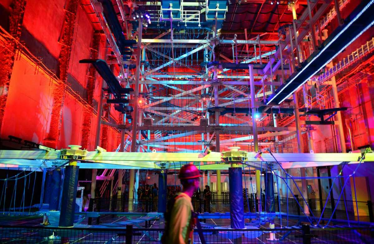 Check out the ropes course for some zip-lining and climbing fun at Jordan's Furniture. They're also serving up ice cream and gourmet pizza.Find out more:http://bit.ly/1VpFSG7(Photo: Christian Abraham)