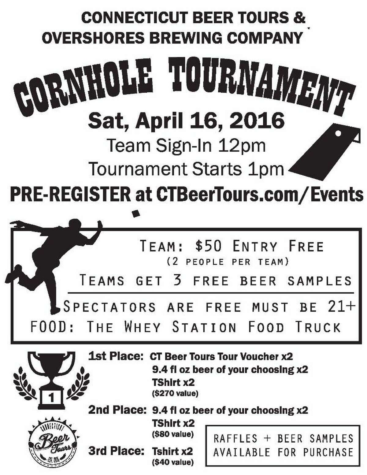 If you love cornhole, it's time to get your team together! Overshores Brewing Company is hosting a tournament on Saturday. Find out more. (Credit: CT Bites / Contributed Photo)