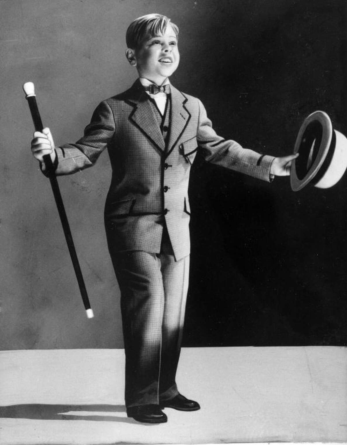 FILE - Child actor Mickey Rooney, 7, is shown as a performer in this undated photo. Rooney, a Hollywood legend whose career spanned more than 80 years, has died. He was 93. Los Angeles Police Commander Andrew Smith said that Rooney was with his family when he died Sunday, April 6, 2014, at his North Hollywood home. (AP Photo/File)