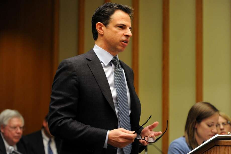 Attorney Joshua Koskoff, who represents a group of families of some of the Sandy Hook Elementary School shooting victims, speaks during final arguments of a law suit against Remington Arms in Superior Court, in Bridgeport, Conn. Feb. 22, 2016. (Photo: Ned Gerard / Hearst Connecticut Media)