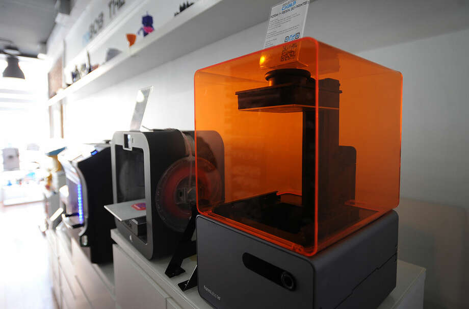 A variety of 3-D printers at Industrial C.H.I.M.P. at 132A Washington Street in Norwalk, Conn. on Wednesday, April 6, 2016.