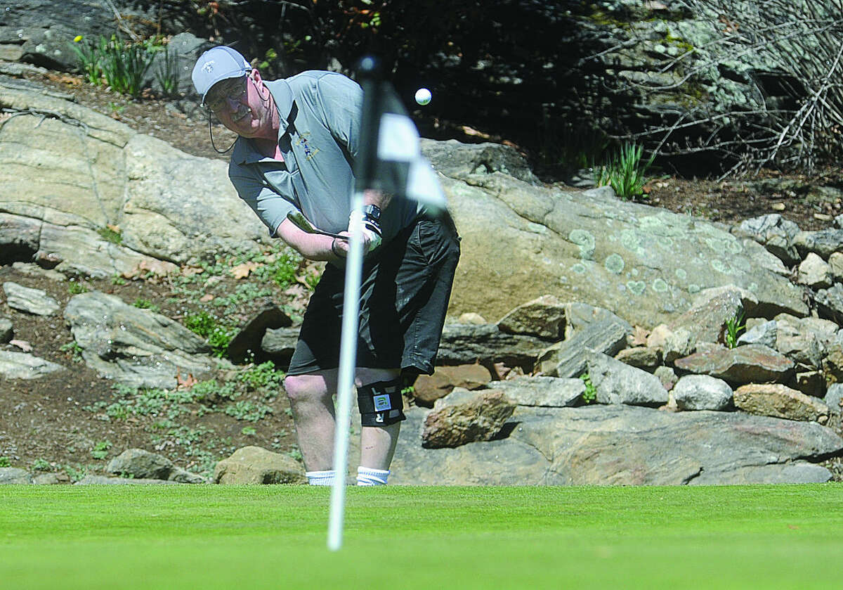 Mickey Watson Sunday at Oak Hills Golf Course where the season for golf officially has started. Hour photo/Matthew Vinci