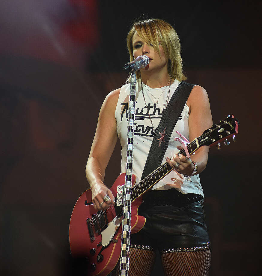 Hour photo/John Nash - Country rock star Miranda Lambert was in concert at the Mohegan Sun Arena in Uncasville on Saturday night.