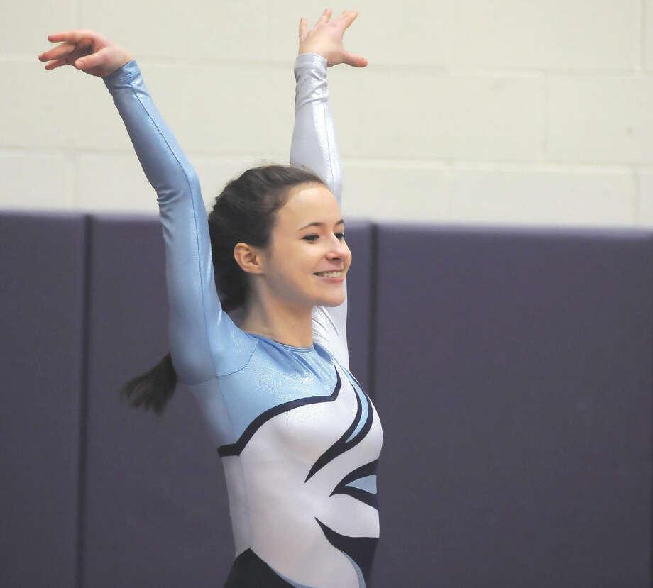Wilton's Meredith Nash is The Hour's All-Area gymnastics MVP for 2015. (Hour photo/John Nash)