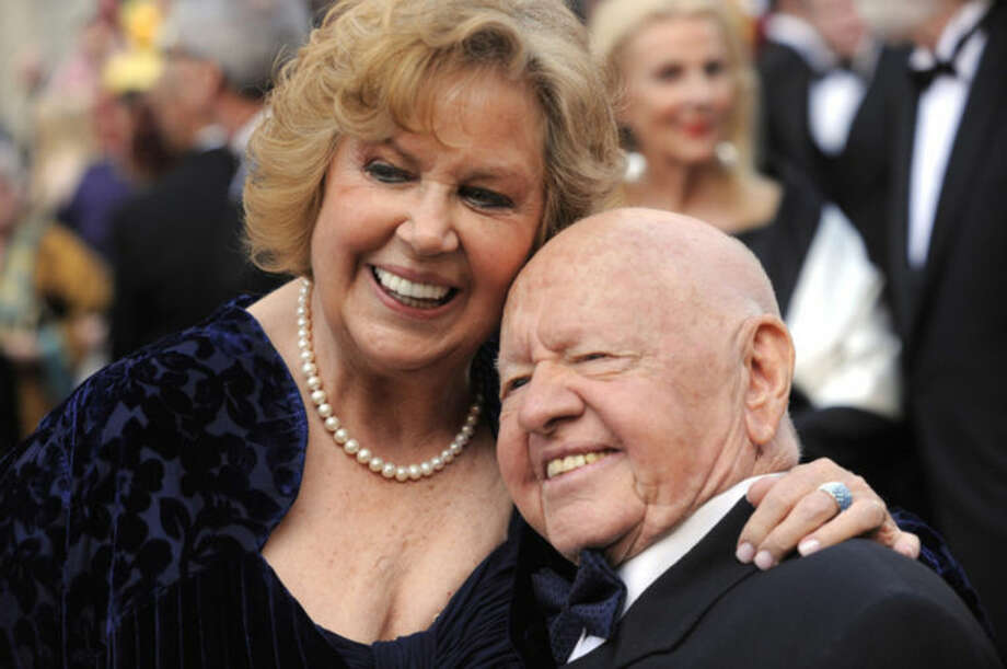 AP file photo / Chris PizzelloIn this Sunday March 7, 2010, file photo, Mickey Rooney, right, and Jane Rooney arrive during the 82nd Academy Awards in the Hollywood section of Los Angeles.