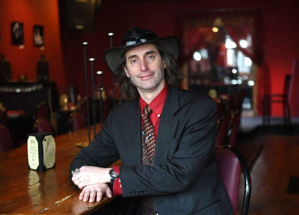 Owner Fred Laist poses in The Fez Morrocan-inspired restaurant and wine bar in downtown Stamford, Conn. Monday, April 11, 2016.