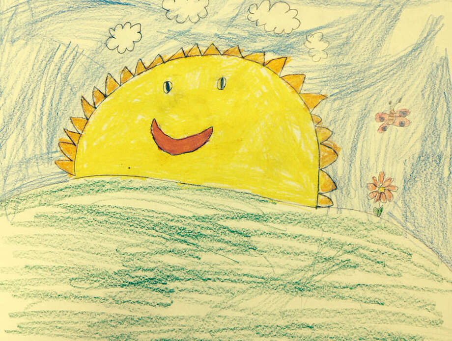 Weather drawing for Wednesday, April 9, 2014. Emily Peterson, Columbus Magnet School.