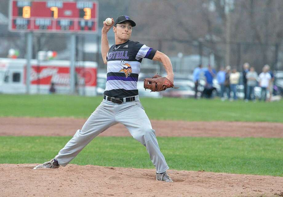 Hour Photo/Alex von Kleydorff Westhill at Stamford Baseball