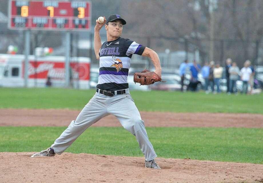 Hour Photo/Alex von Kleydorff Westhill at Stamford Baseball