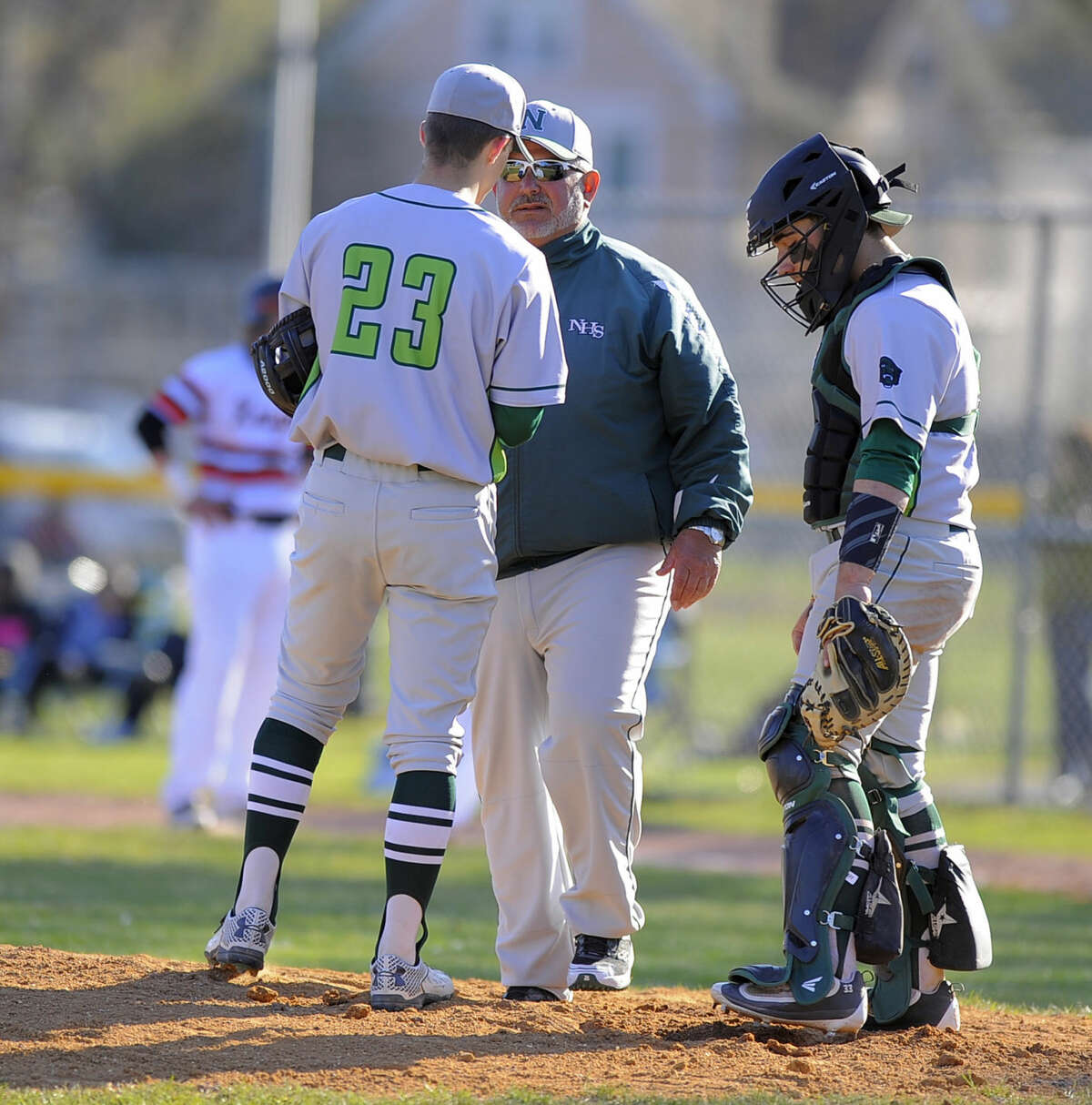 Norwalk defeated Stamford 8-7 in a FCIAC boys baseball game at Stamford High School on April 15, 2016.