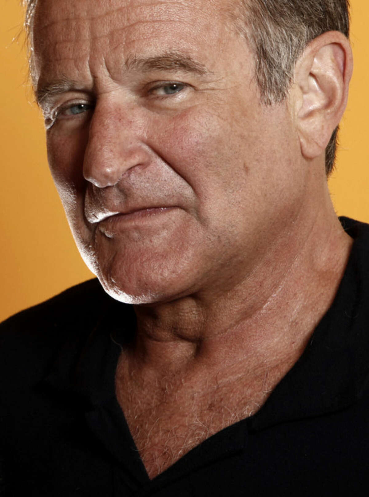 """FILE - This Aug. 14, 2009 file photo shows actor Robin Williams in Los Angeles. Williams and Durst are highlighted in """"3 Still Standing,"""" a new documentary featured later in April 2015 at Toronto's Hot Docs, North America's largest documentary festival. The film marks one of Williams' final appearances on screen. (AP Photo/Matt Sayles, File)"""