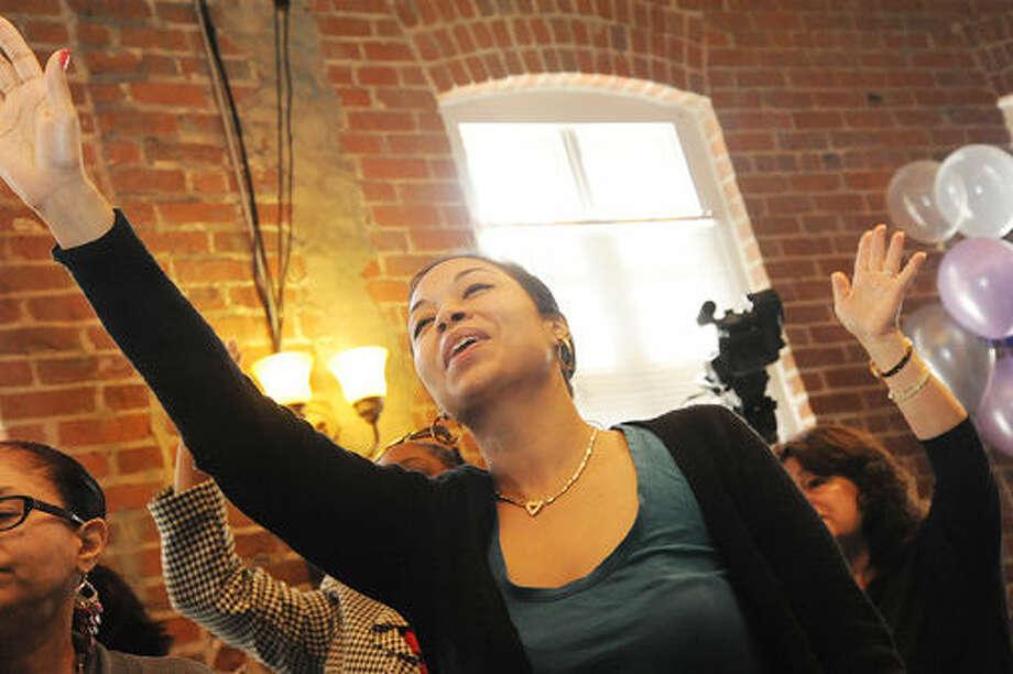 Maria Diaz at the Word Alive Bible Church in Norwalk celebrating 20 years. Hour photo/Matthew Vinci