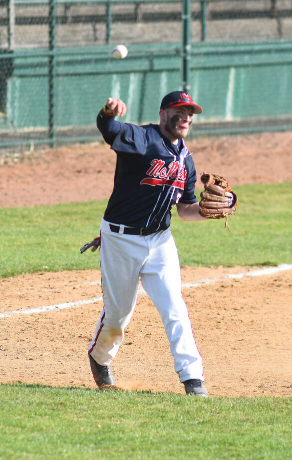 Action from Sunday's Norwalk vs. Brien McMahon baseball game played at Doubleday Field in Cooperstown, N.Y.