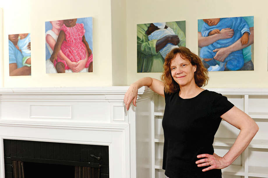 Hour photo / Erik Trautmann Artist Gwyneth Leech is exhibiting her work at the Gallery on the Green at St. Paul's Church.