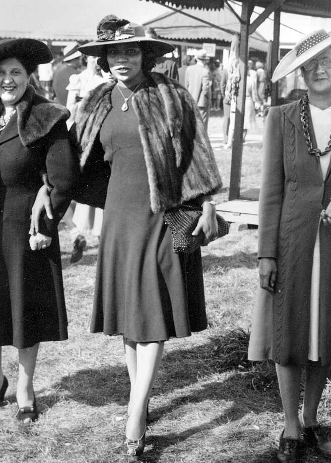 Marian Anderson, center, famed contralto and Danbury resident, at the Great Danbury State Fair in the mid-1950s.