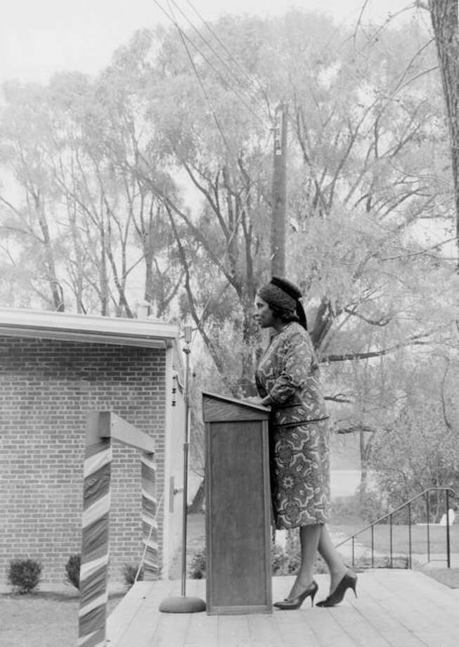 Marian Anderson is seen in this 1963 photo, courtesy of The Danbury Museum and Historical Society.