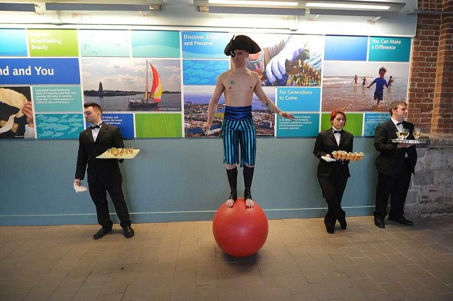 Hour Photo/Alex von Kleydorff Red Apple Gala at The Maritime Aquarium